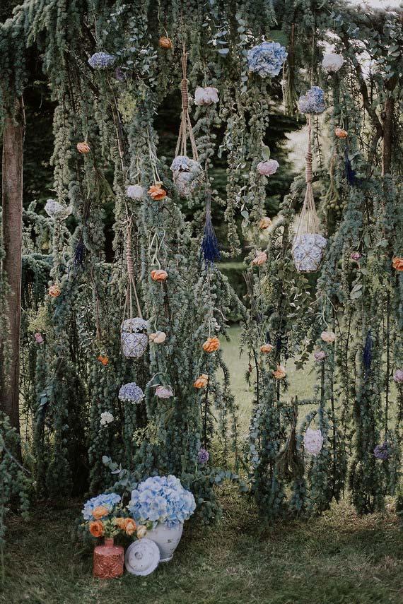 Flores para casamento: uma sugestão de como usar as hortênsias na decoração de casamento ao ar livre