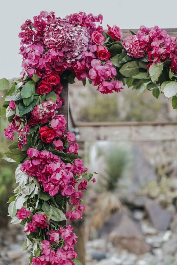 Rosas na decoração de casamento
