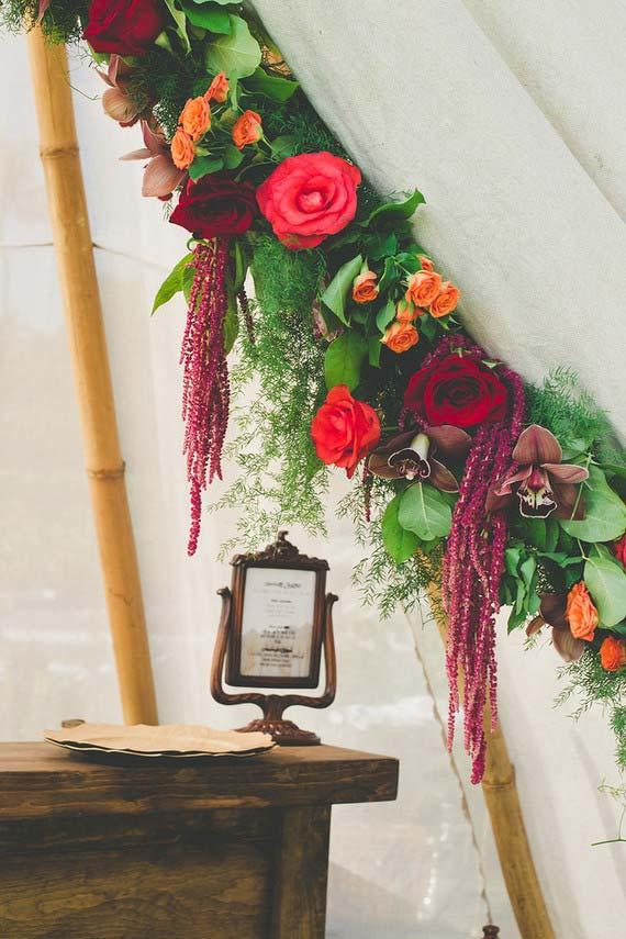Flores para casamento com rosas