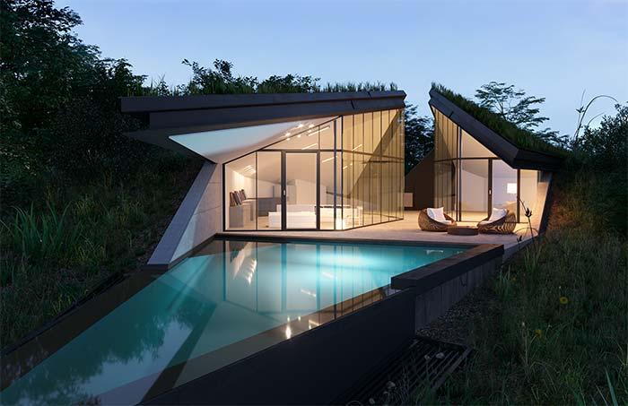 Casa perfeita com arquitetura camuflada