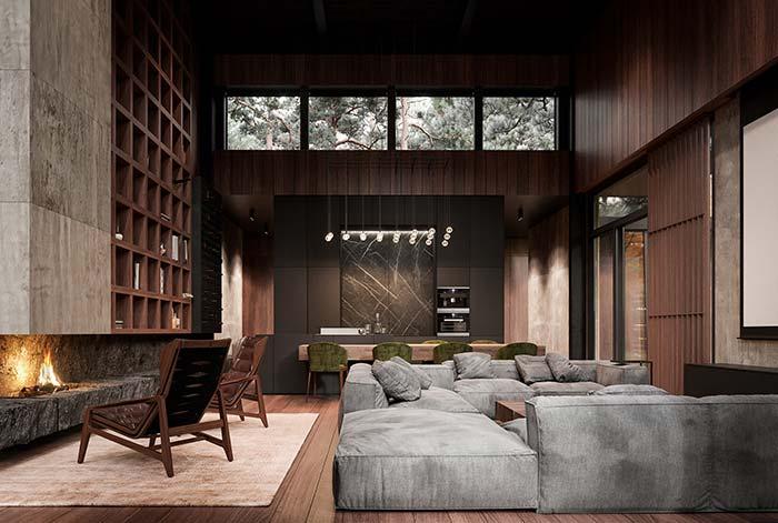 Sala perfeita para relaxar em boa companhia