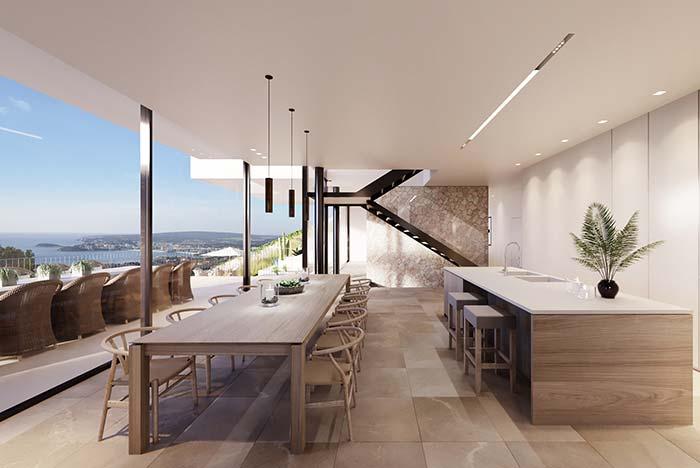 Use vidro para criar conexão entre o lado interno e externo da casa