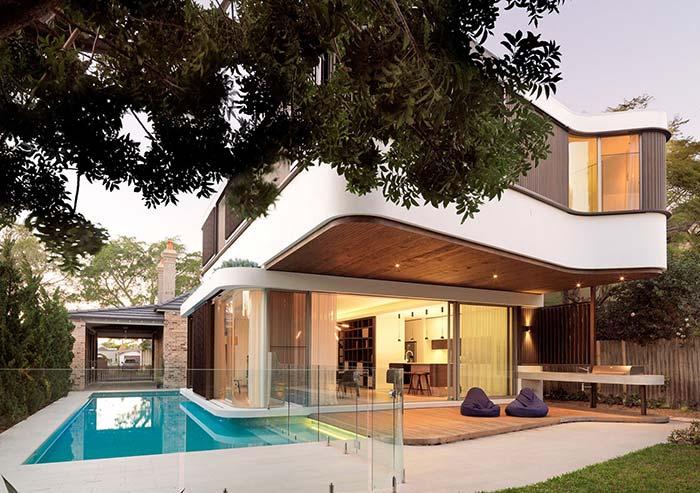 Casa perfeita de madeira