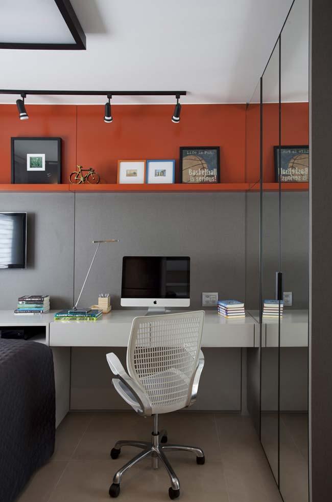 A cor laranja no escritório é ótima para criar entusiasmo e motivação