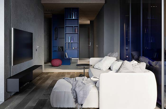 Sobriedade também é uma marca da cor azul