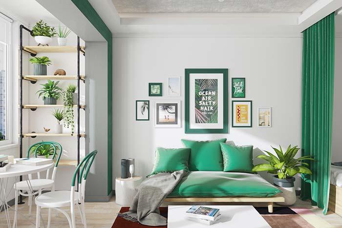 Verde e branco: decoração marcante e de personalidade