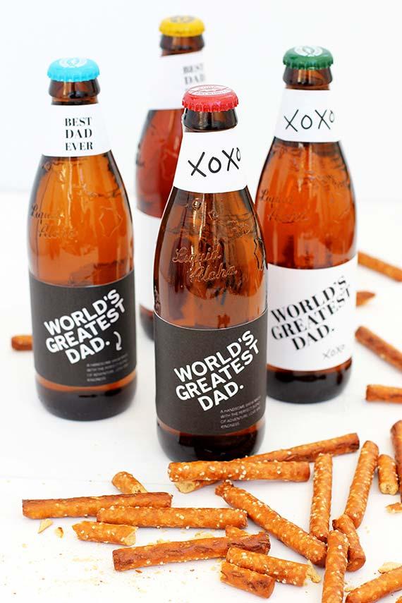 Cervejas e tira gostos: seu pai vai adorar a lembrancinha de Dia dos Pais