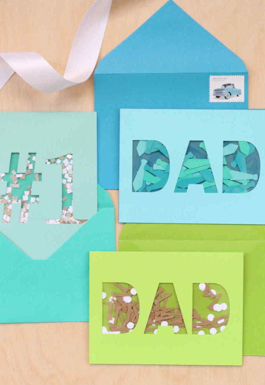 Confetes de papel para celebrar o pai número 1 do mundo