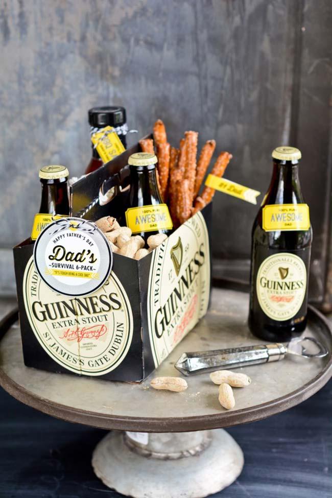 Caixa de cerveja personalizada para o Dia dos Pais