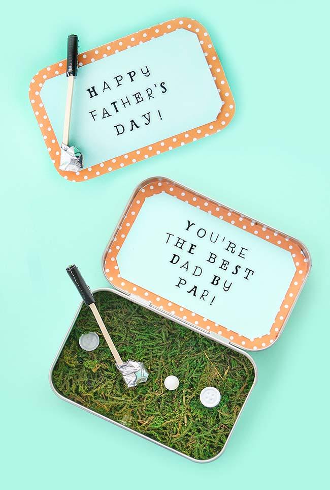 Mini golfe na marmitinha para o melhor pai do mundo