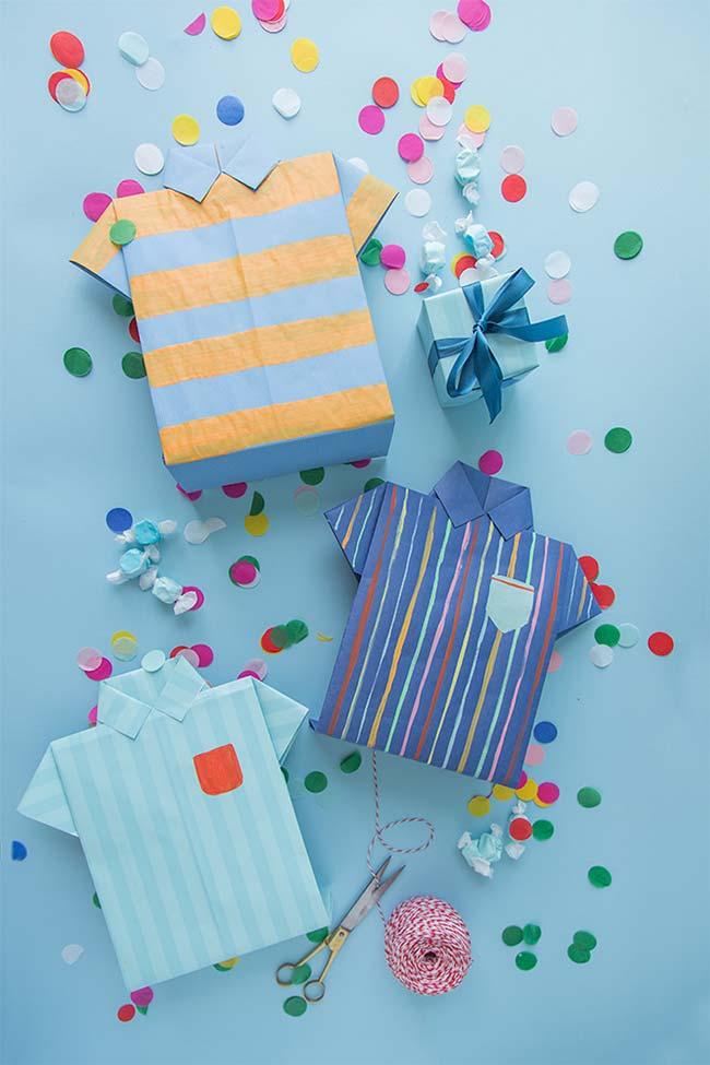 Lembrancinha Dia dos Pais: camisas caixas são um presente à parte para o papai