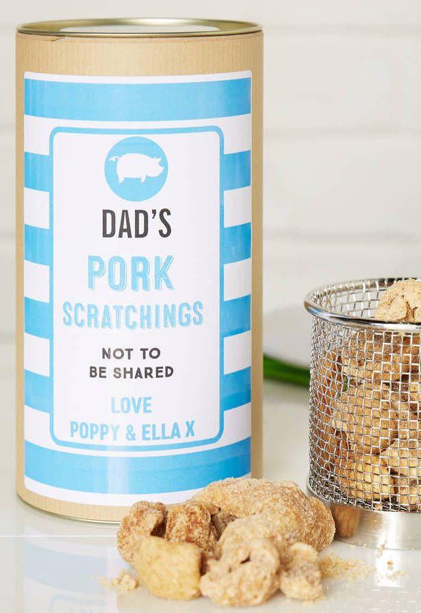 Na lembrancinha para o Dia dos Pais vale tudo até bacon e pururuca na lata