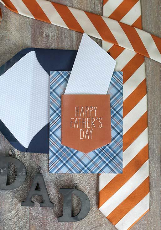 Lembrancinha Dia dos Pais: cartão para o dia dos pais com formato de bolso de calça