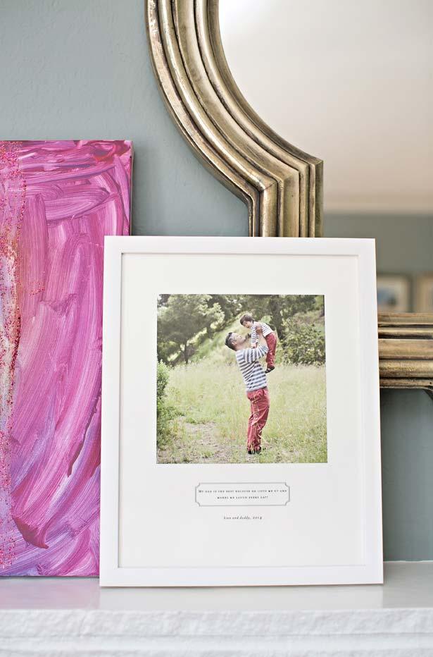 Porta retrato é sempre uma linda opção de lembrancinha para o Dia dos Pais