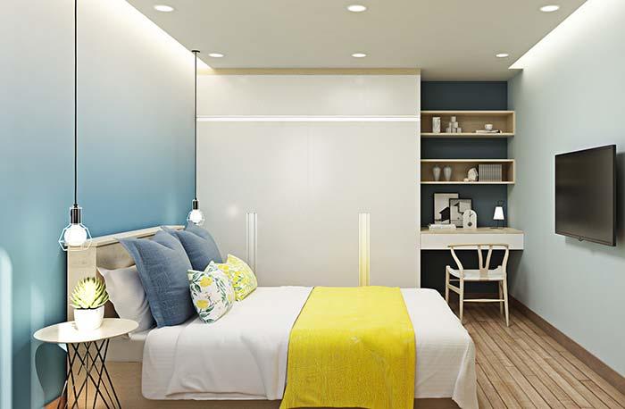 Nichos também são uma excelente maneira de desocupar o chão, aproveitando o espaço das paredes para decorar e organizar