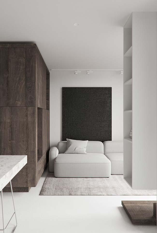 Quadro grande para sala texturizado preto