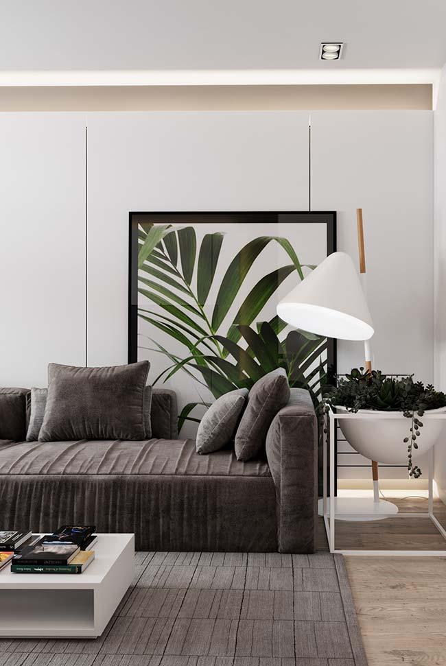 Quadros grandes para sala e com inspiração botânica