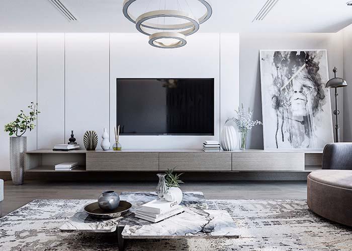 Toda dramaticidade de um quadro moderno para a sala em preto e branco