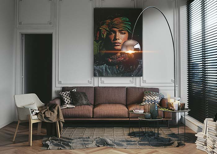 Com um quadro grande como esse já é quase possível imaginar o morador da casa