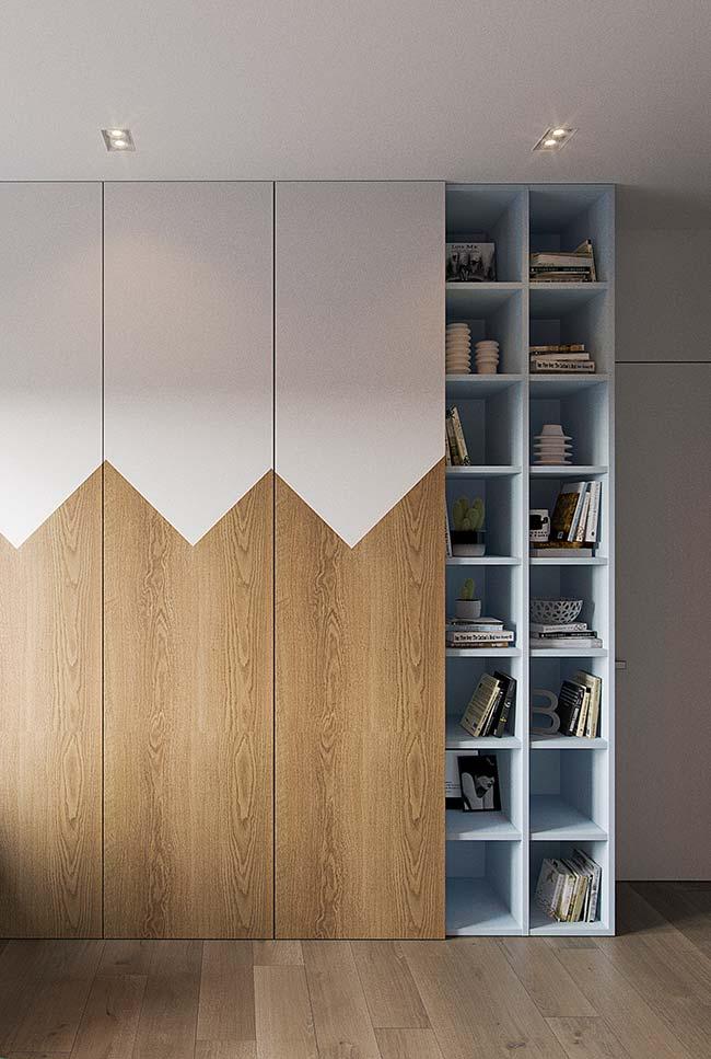 Móveis laqueados: azul suave dos nichos laqueados é uma boa opção de cor para quartos