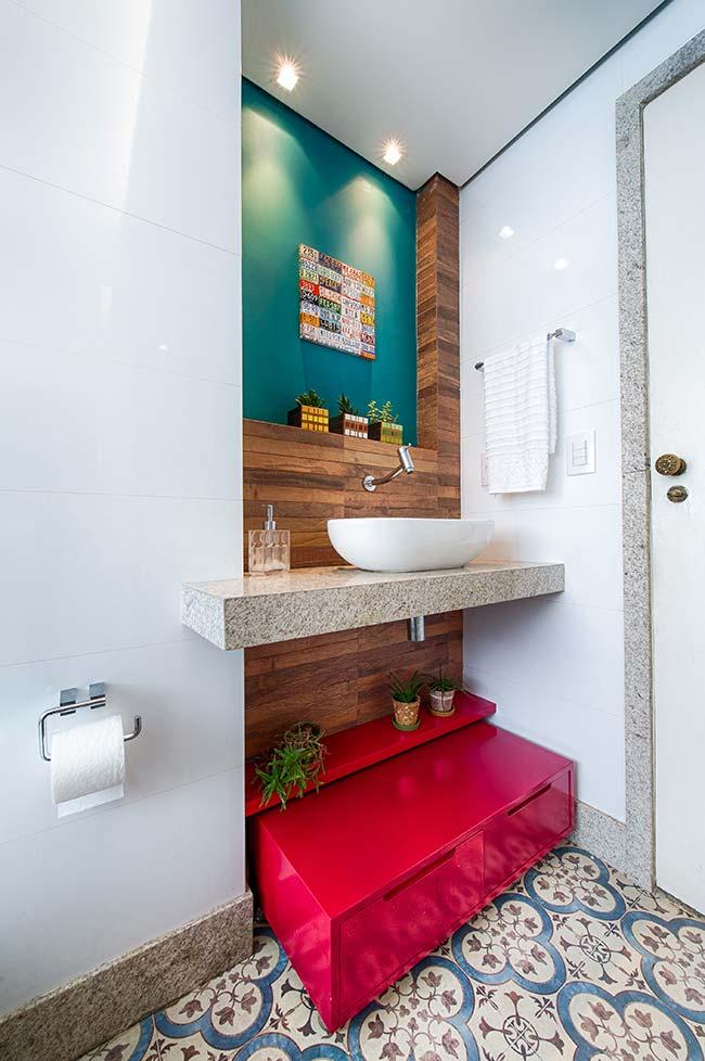 Banheiro pra lá de estiloso