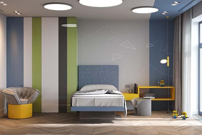 Laca nos móveis e na parede