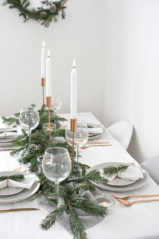 Mesa de Natal para poucos convidados