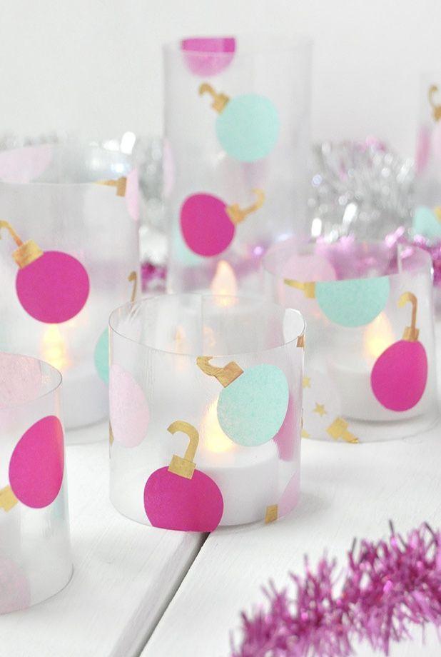 No maior estilo handmade, que tal fazer seus próprios porta-velas natalinos?