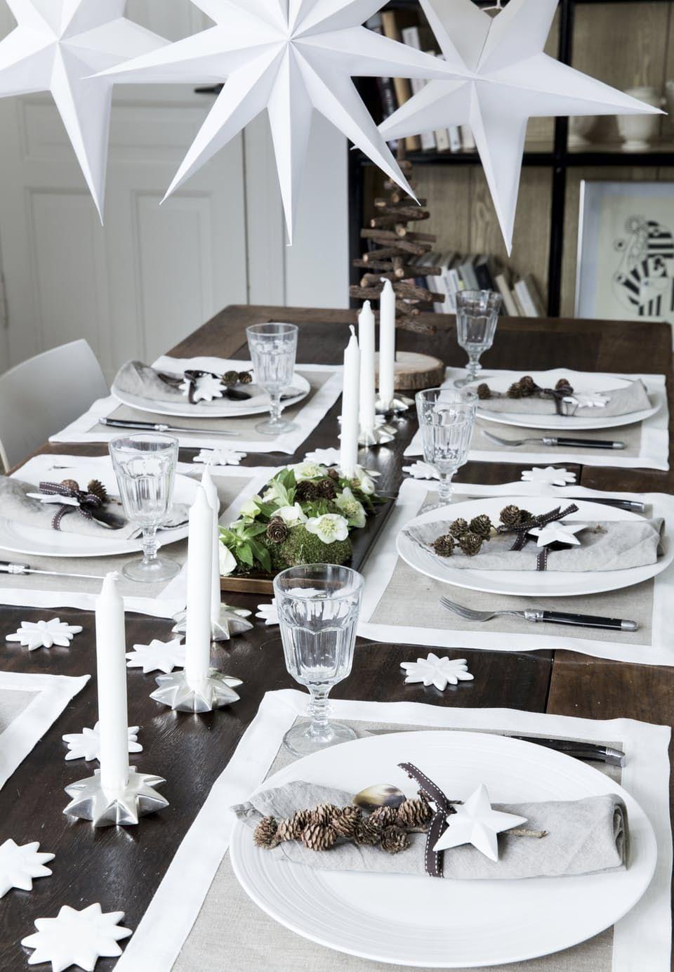 Mesa de Natal branca