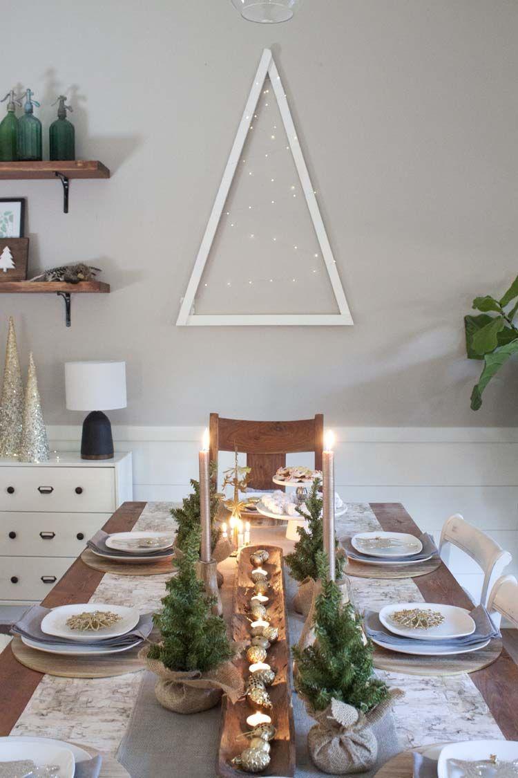 arranjo de mesa de Natal simples e super charmosa