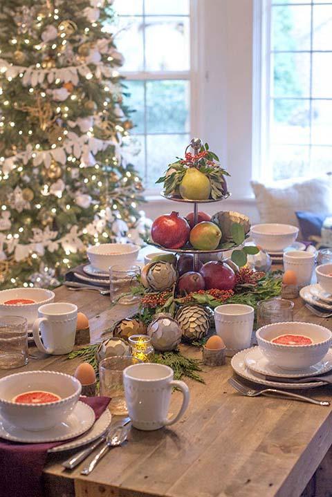 Arranjo comestível para mesa de Natal