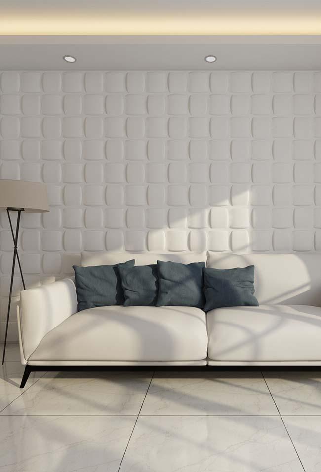 O efeito de volume e profundidade desse papel de parede engana até os olhares mais atentos