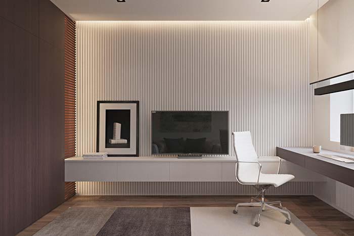 Se o discreto é o que te agrada mais, esse modelo de papel de parede 3D é o ideal