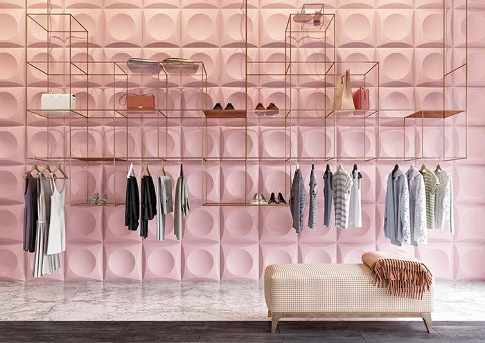 E que tal deixar o seu closet bonito e diferente com um papel de parede 3D