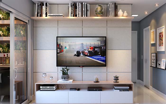 Monte o painel para sua TV com papel de parede 3D