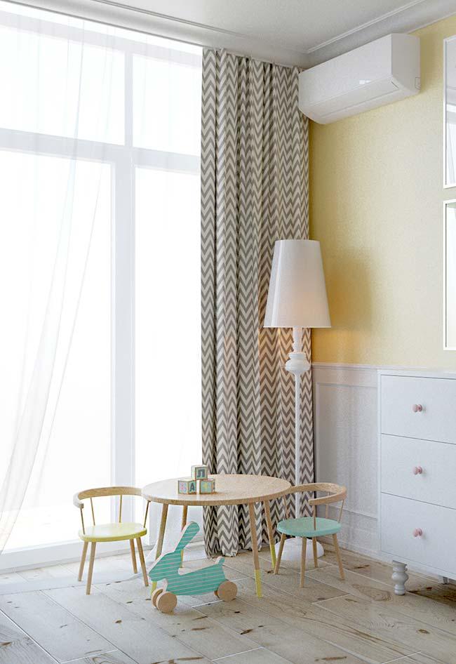 Quarto infantil precisa de cortina e nada melhor do que um cortineiro para deixar o cantinho mais bonito e aconchegante