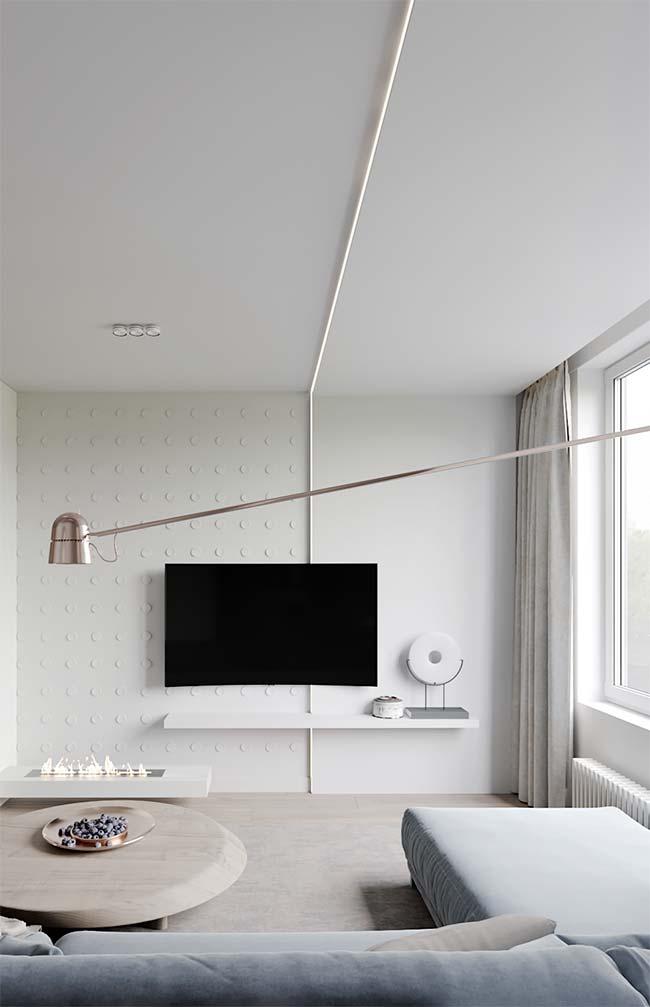 Decorações de estilo moderno e minimalista se beneficiam dos cortineiros