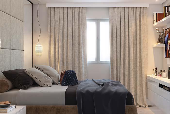 O cortineiro deve respeitar as medidas da cortina e não da parede