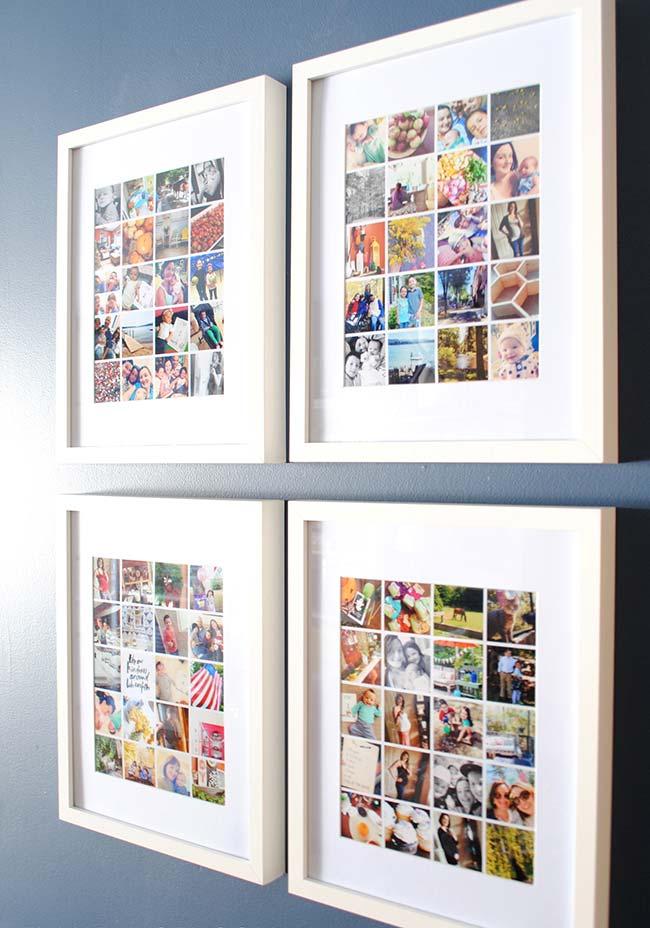 Tá difícil de escolher as fotos para o quadro? Essa pode ser a solução