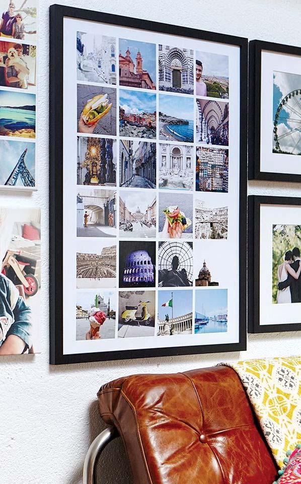 Quadro de fotos para os aventureiros e viajantes