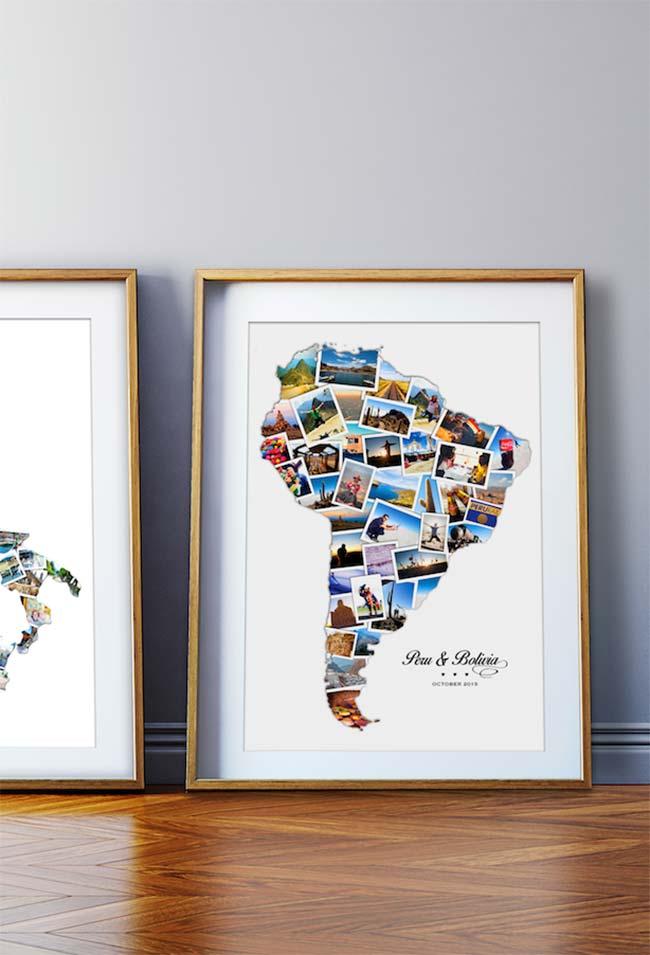 Uma ideia genial para as fotos de viagem: preencha um mapa com elas