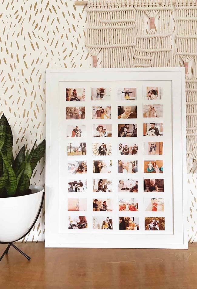 Busque pelas fotos mais marcantes e importantes da história da família para montar o quadro