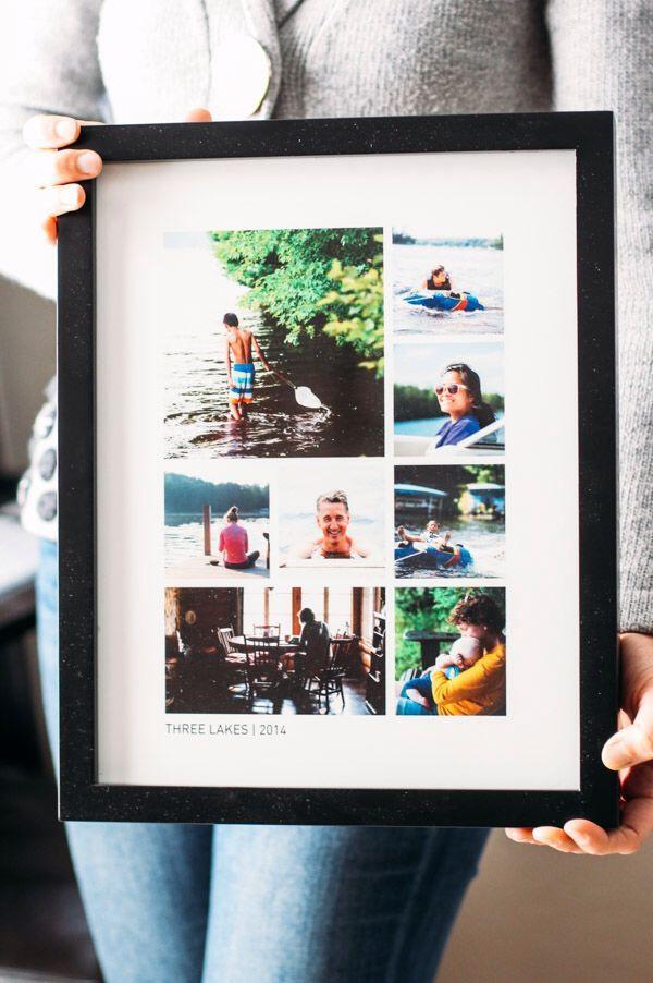 Em cada quadro, fotos que relembram um momento especial