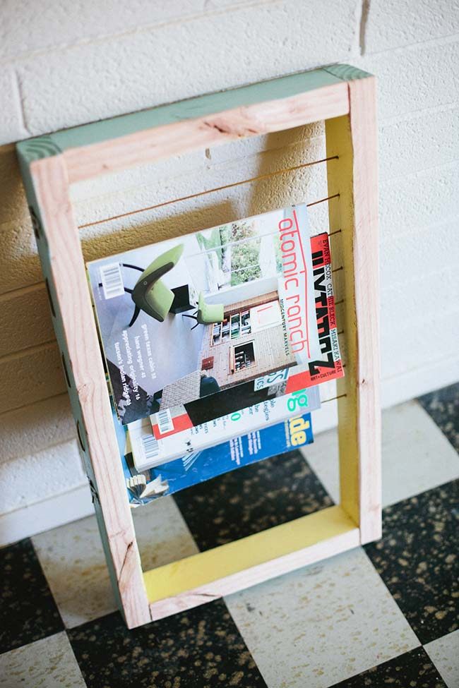 Porta revista simples faça você mesmo
