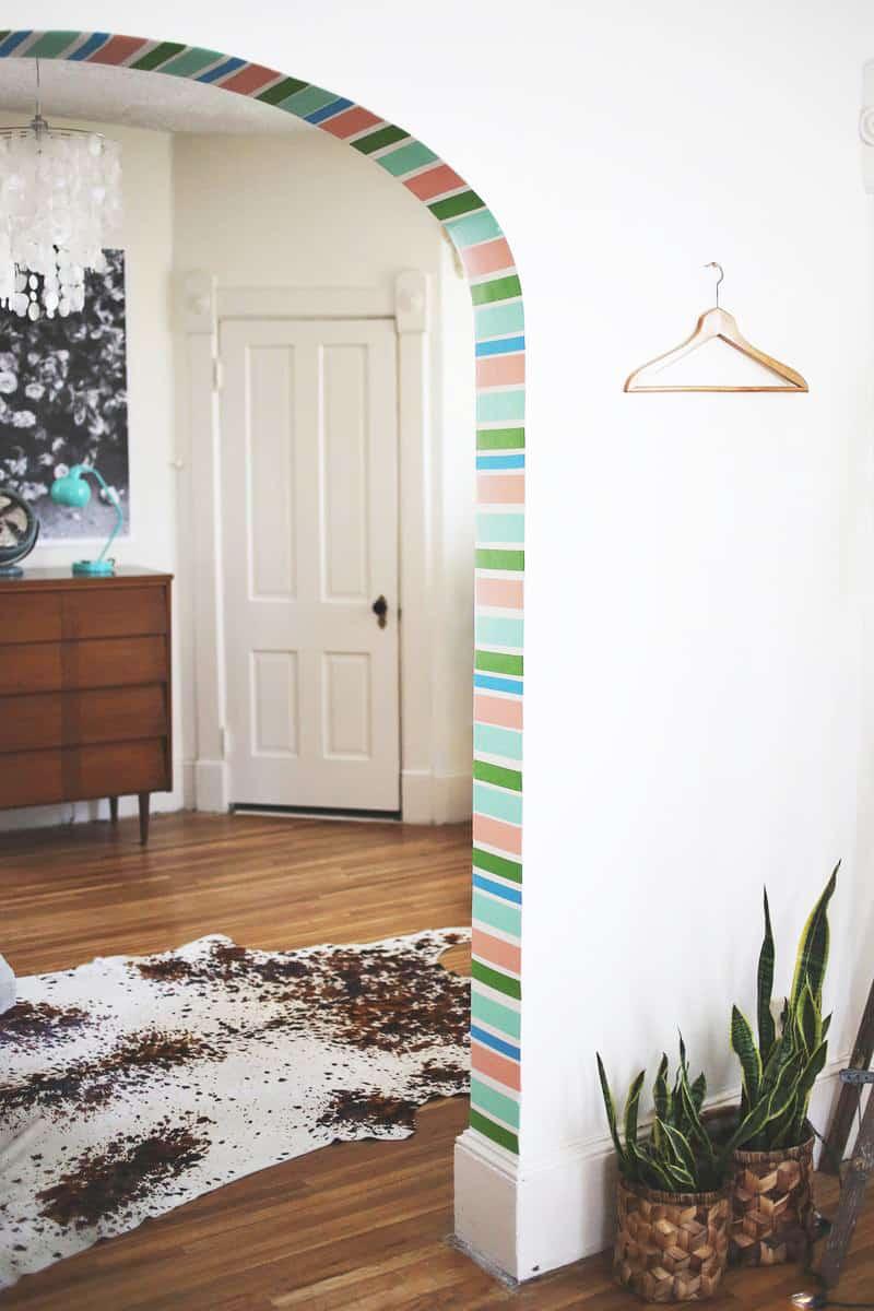 Decoração faça você mesmo: fitas adesivas coloridas