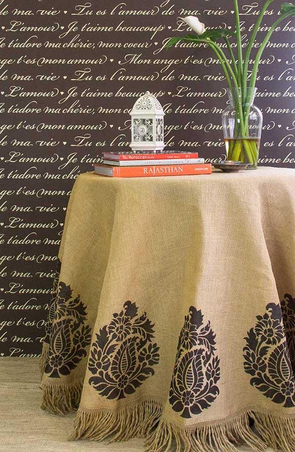 Pintura em tecido: e esse modelo de toalha de mesa mais rústico te agrada?