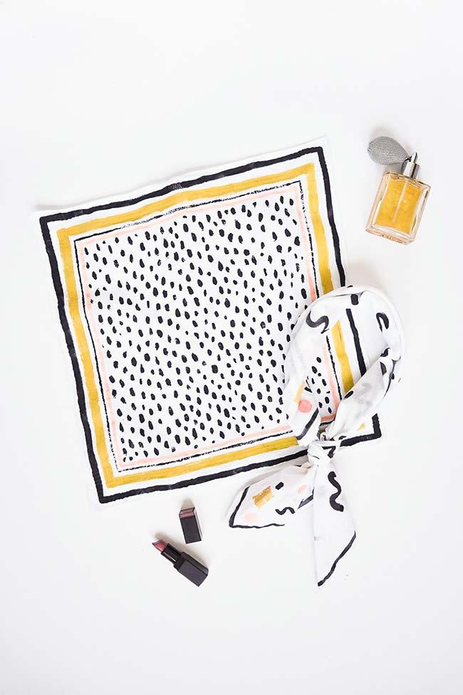 Pintura em tecido até para a tiara de cabelo: não tem limite para o artesanato