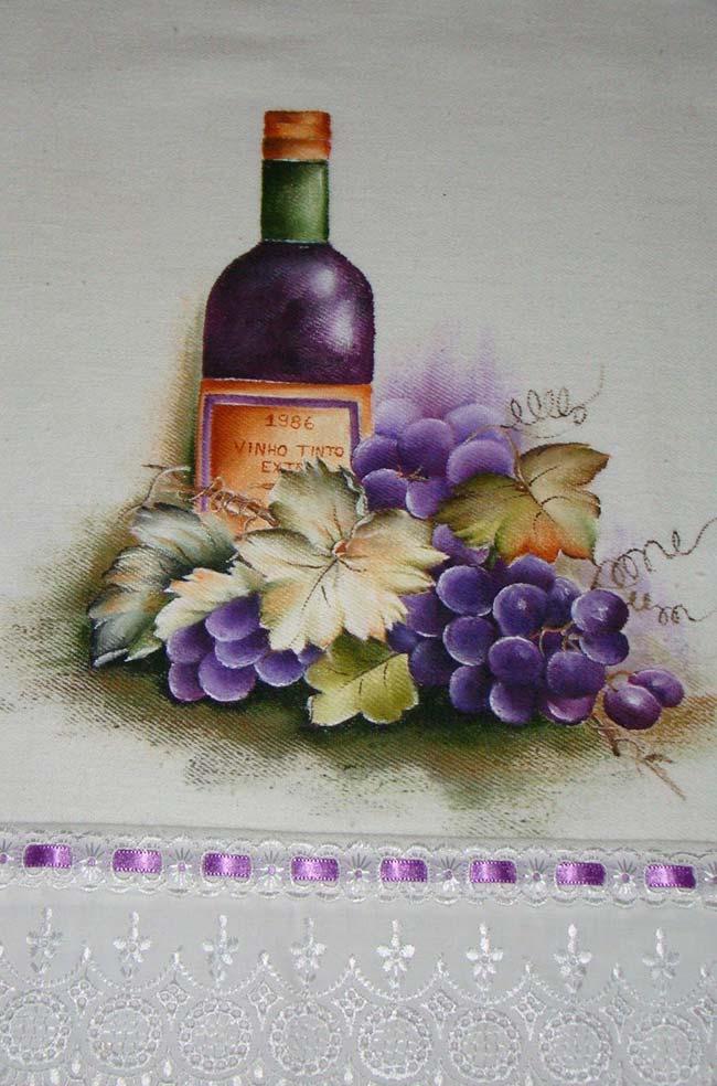Pinte seus panos de prato com temas que representem sua personalidade e gostos pessoais