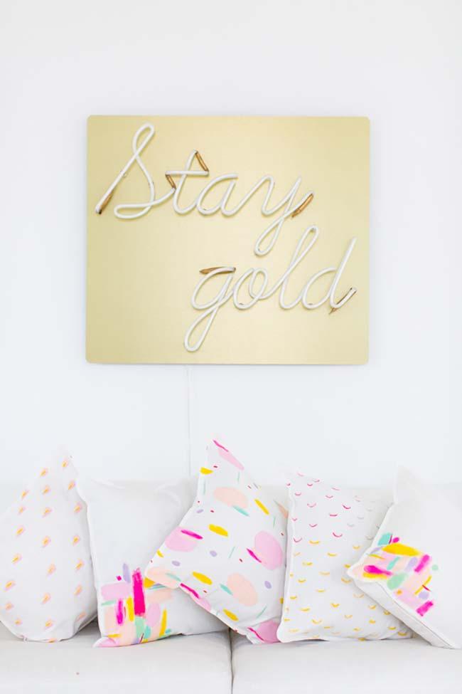 Pintura em tecido para capas de almofada personalizadas