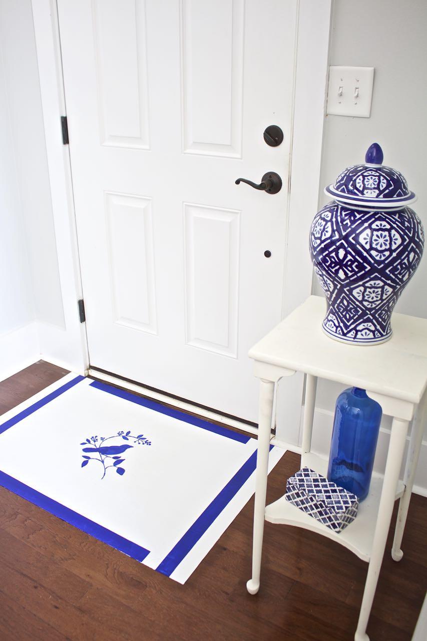 Pintura em tecido: use as cores da decoração na pintura que você fizer, assim fica tudo em harmonia